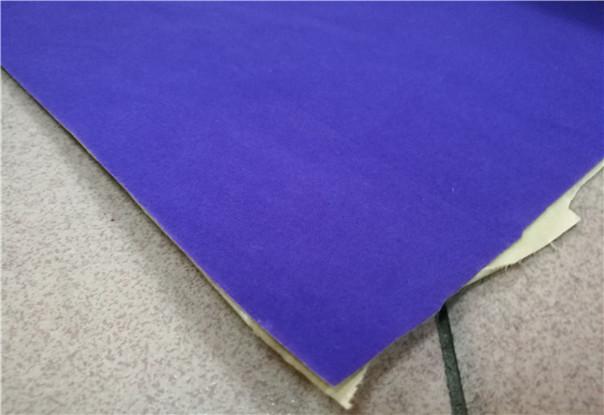紫色绒布背胶