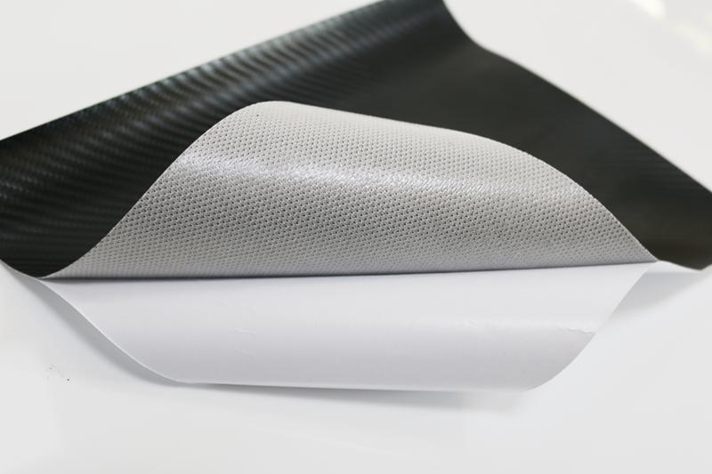 pvc网格底碳纤维皮革背胶